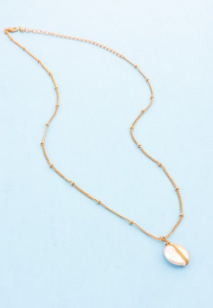 Banded Pearl Pendant Necklace
