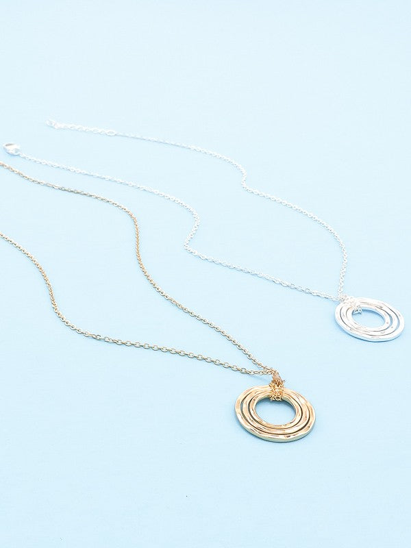 Delicate Stacked Ring Necklace