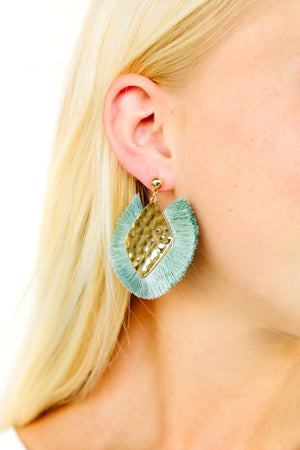 Hammered Kite Tassel Earrings