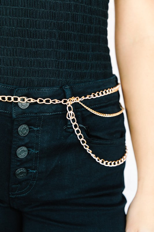 Miley Pocket Illusion Adjustable Chain Belt