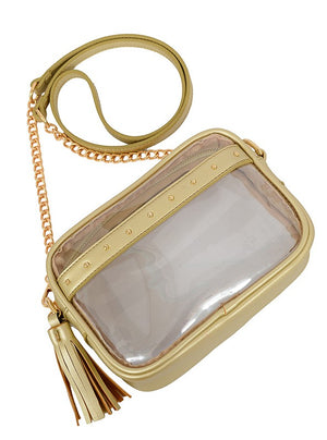 Natalia Transparent Crossbody- Champagne