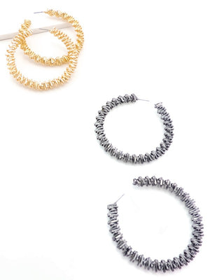 Metal Stacked Hoops