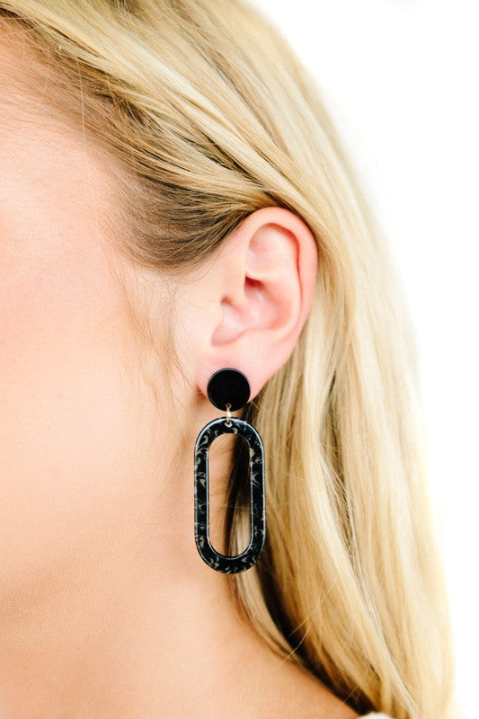 Ash and Ice Acetate Earrings