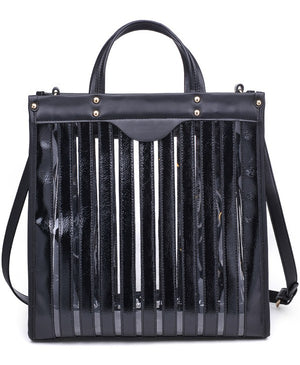 Emma Clear Striped Handbag