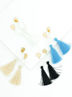 Acrylic Tassel Drop Earrings