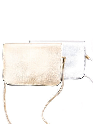 Pebbled Metallic Vegan Pouch