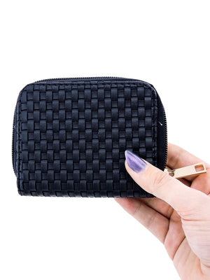 Lea Lattice Leather Cardholder