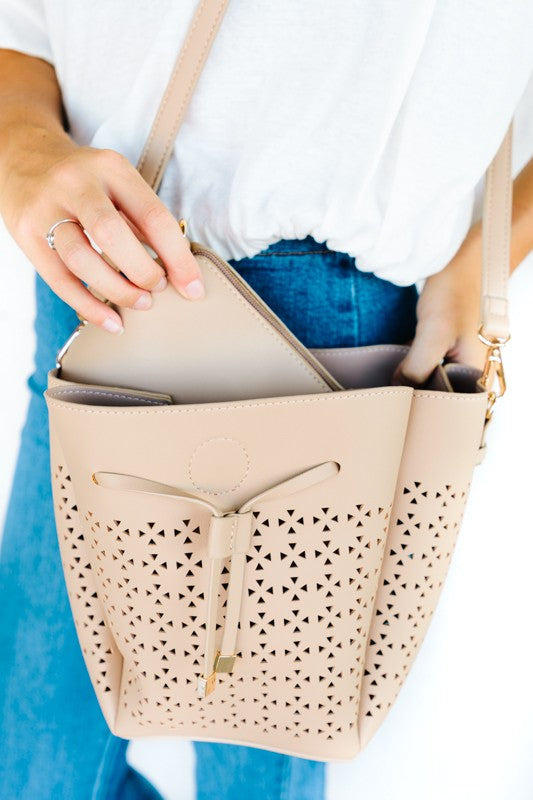 Perforated Pouch Crossbody