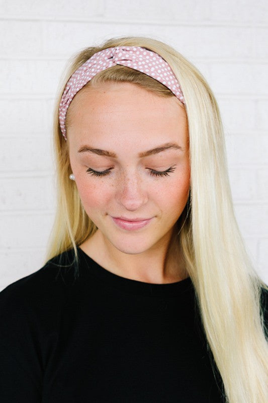 Mix Print Scrunched Head Band
