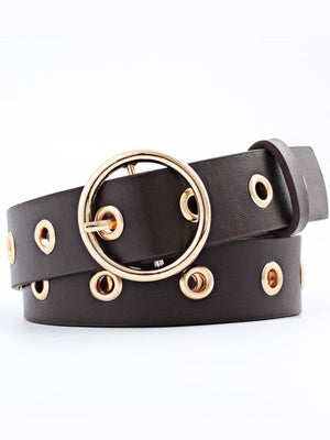 Golden Eyelet Glam Belt