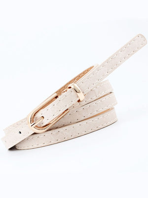 Chic Neutral Matte Skinny Belt