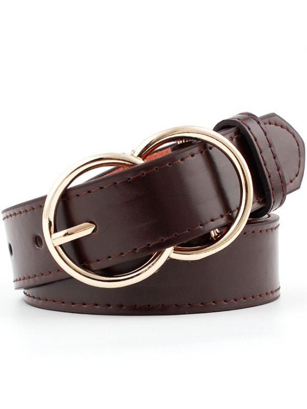 Leigh Layered Oval Buckle Belt