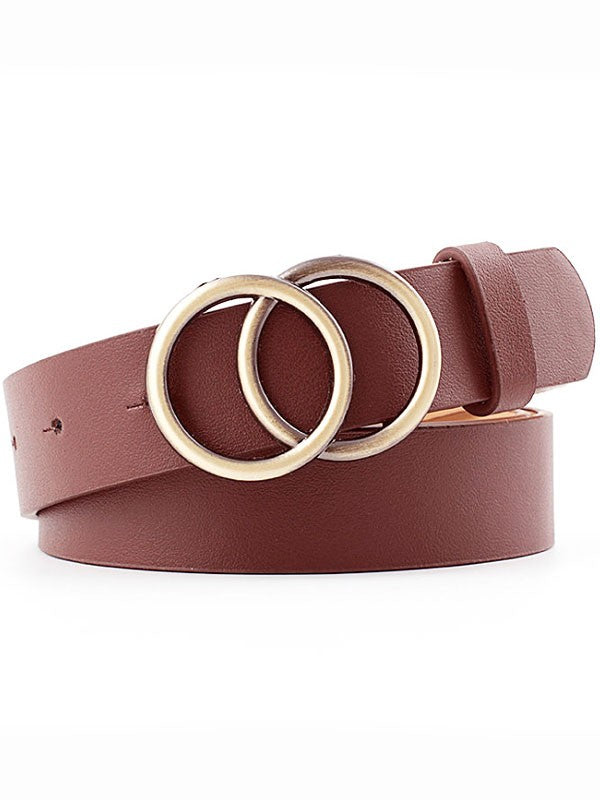 Gigi Circle Buckle Wide Belt