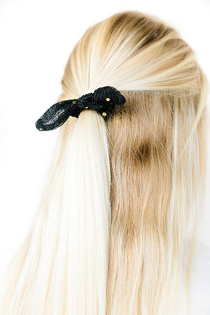 Sequin Chiffon Scrunchie Bow