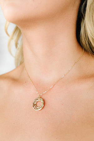 Olivia Layered Ring Delicate Necklace