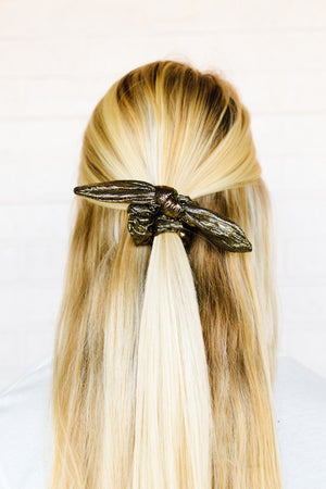 Mixed Metal Scrunchie Bow