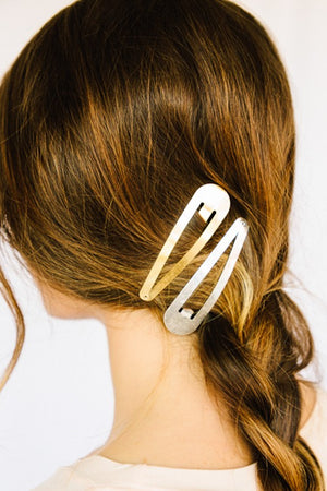 Mocking Jay Brushed Metal Barrette