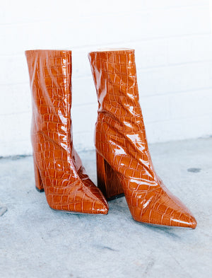 Snake Skin Ankle Bootie