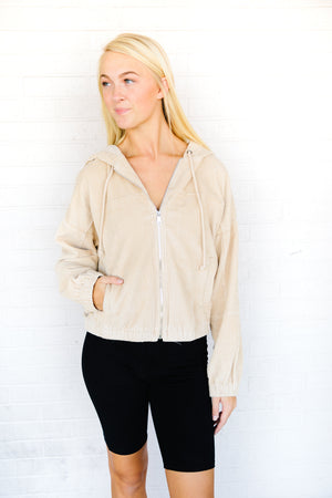 Josie Hooded Crop Jacket