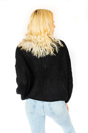 Meredith Knitted Sweater- Black