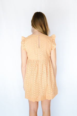 Embroidered Lace Romper- Honey
