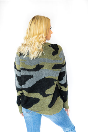 Oversized Military Sweater