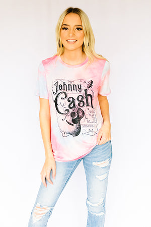 Johnny Cash Tie Dye Tee