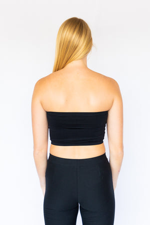 Seamless Tube Top- Black
