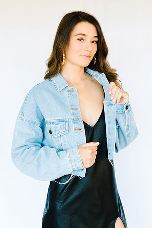 Krissy Cropped Denim Jacket