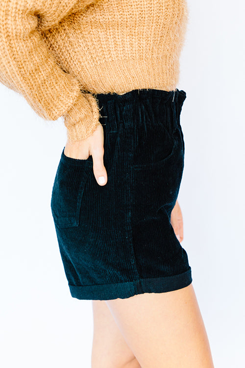 Paper Bag Rolled Hem Shorts