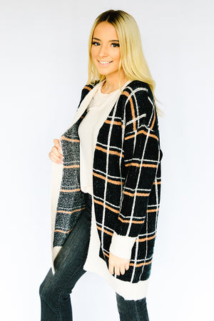 Checked Out Sweater Cardi
