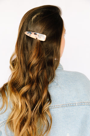Toffee Tapered Tortoise Hair Clip