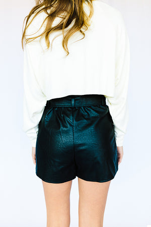 Janice High Waisted Tie Shorts