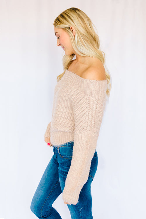 Evie Off The Shoulder Sweater