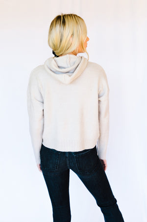 On-the-Go Cropped Hoodie- Alpaca
