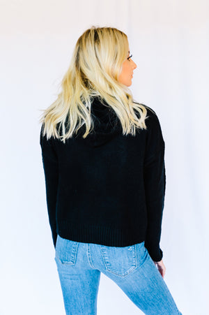 On-the-Go Cropped Hoodie- Black
