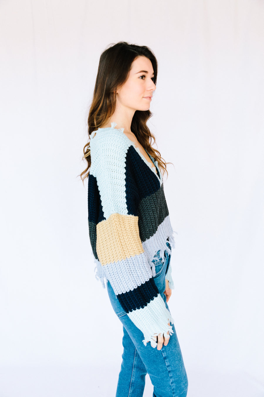Cold As Snow Cropped Sweater