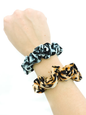 Small Multi Leopard Scrunchie