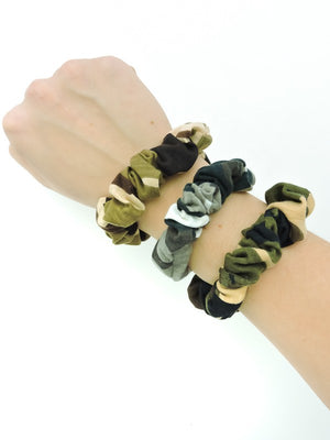 Small Multi Camo Scrunchie