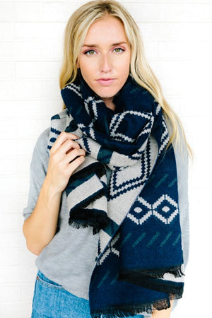 Aztec Pattern Sweater Scarf