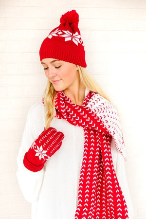 Cozy Winter Hat, Glove, and Scarf Set