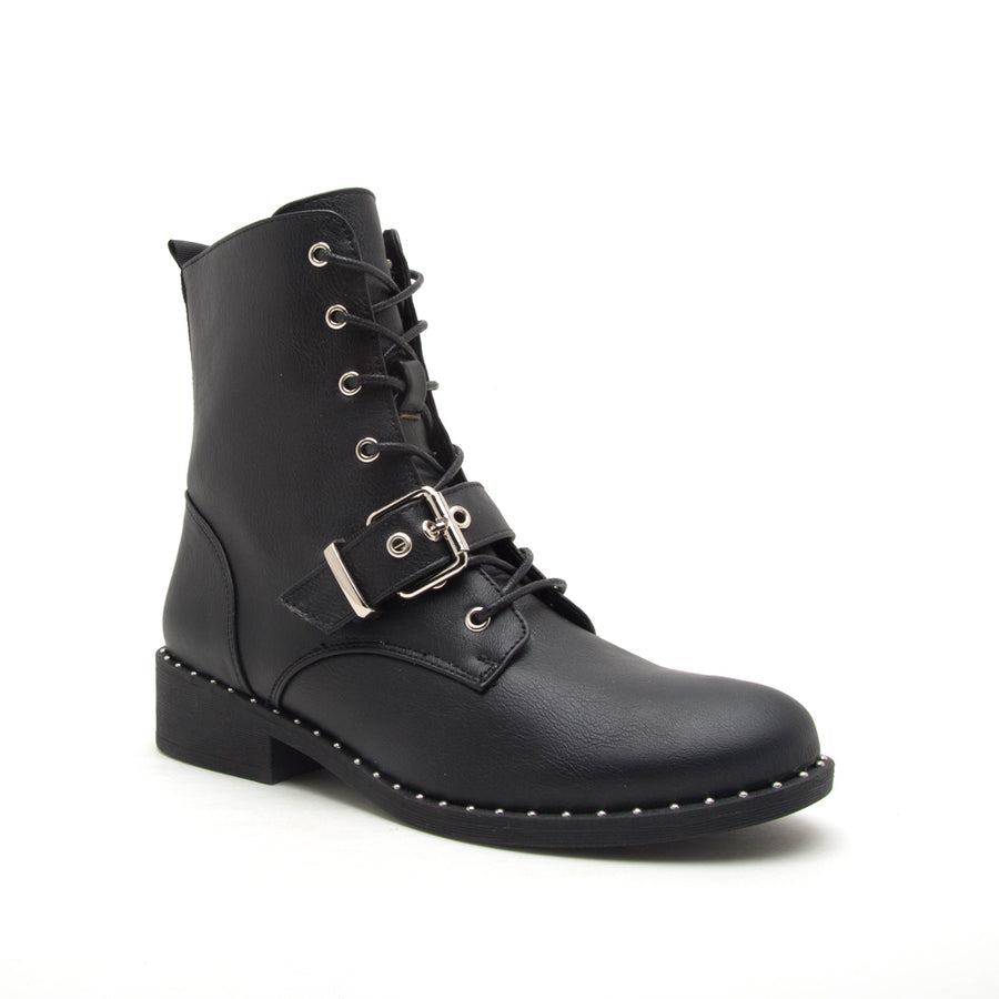 Plateau Combat Booties- Black