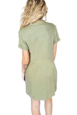 Short Sleeve Linen Dress