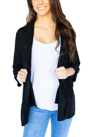 Relaxed Fit Linen Blazer