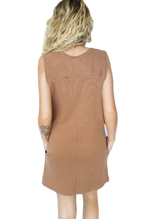 Sleeveless Vneck Knit Sweater Dress