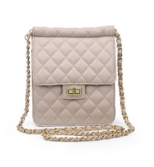 CoCo Quilted Crossbody- Natural