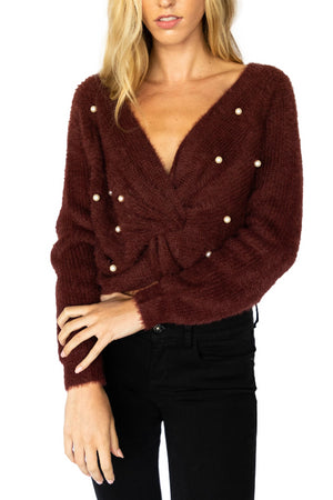 Cross Front Mohair Sweater
