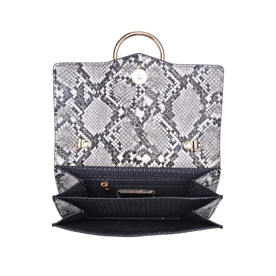 Ella Multi Snake Crossbody- Dark Grey