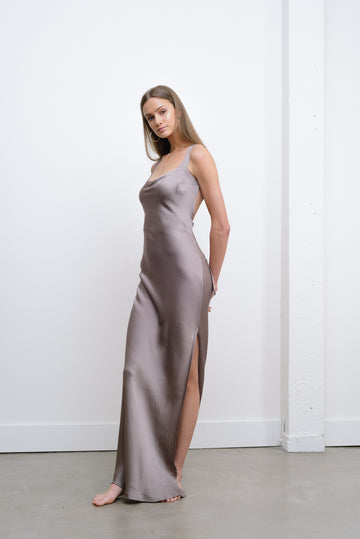 HARLOW DRESS - MAUVE
