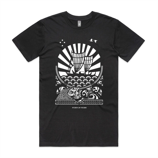 Fuzen Ship Mens Tee Black/White